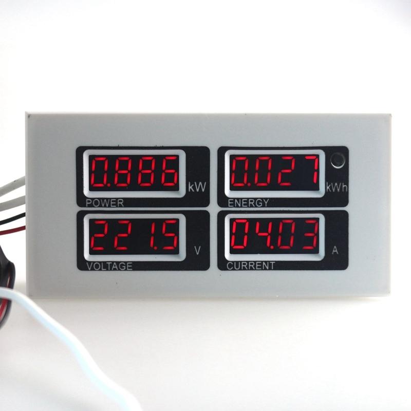 Panneau wattm tre num rique ac 80 260v 100a voltm tre - Testeur de courant ...
