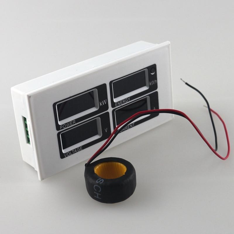 Panneau wattm tre num rique ac 80 260v 100a voltm tre amp rem tre testeur de tension de courant - Testeur de courant ...