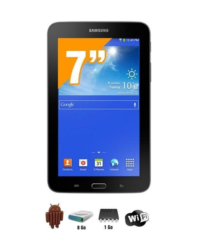 samsung galaxy tab 3 lite t113 maroc 7 wifi android 8go 1go ram noir. Black Bedroom Furniture Sets. Home Design Ideas