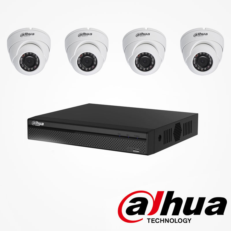 kit video surveillance 2mp 4 cameras avec enregistreur dahua. Black Bedroom Furniture Sets. Home Design Ideas
