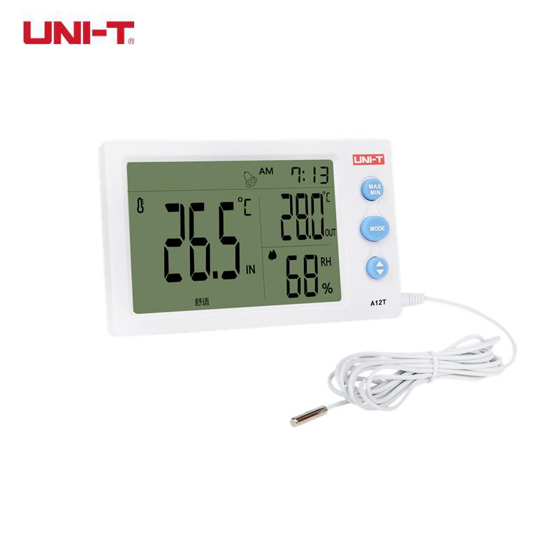UNI-T A12t Thermomètre Hygromètre station météo Intérieur Extérieur ... 7a6accc53675