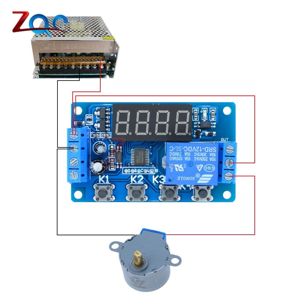 12 V timer Delay relais Module Digital Affichage DEL Cycle 0-999 Réglable Relais